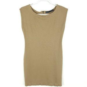 Bodycon Mini Dress Sleevless Scoop Neck